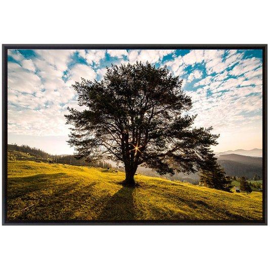 Quadro Decorativo Tela Emoldurada Montanha Romênia 90x60cm