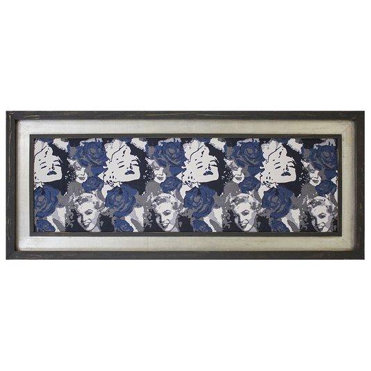 Quadro Decorativo Tela Impressa com Moldura Marilyn Monroe 160x70cm