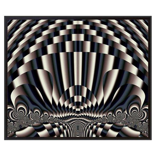 Quadro Tela Impressa Emoldurada Abstrato Arte Moderna 95x80cm