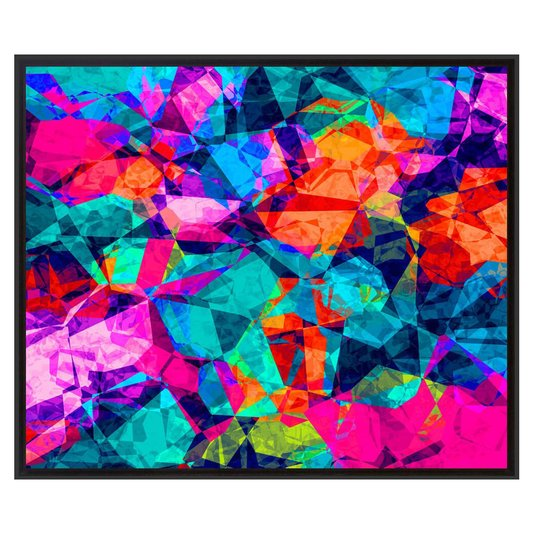 Quadro Decorativo Tela Impressa Emoldurada Abstrato Colors 95x80cm