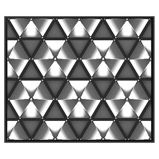 Quadro Decorativo Tela Impressa Emoldurada Abstrato Polígono 95x80cm