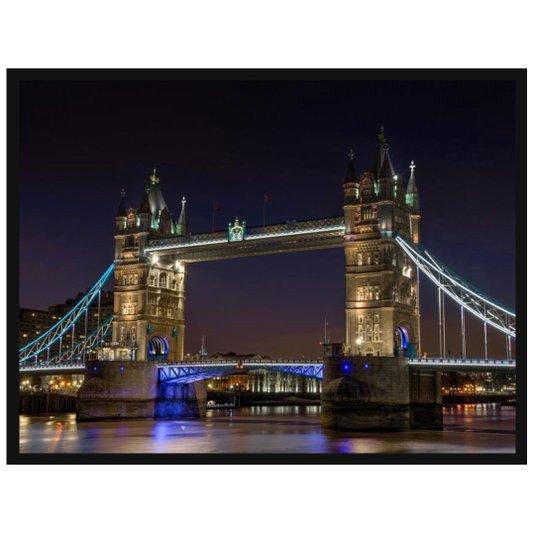 Quadro Decorativo Tower Bridge Ponto Turístico na Cidade de Londres 140x100cm