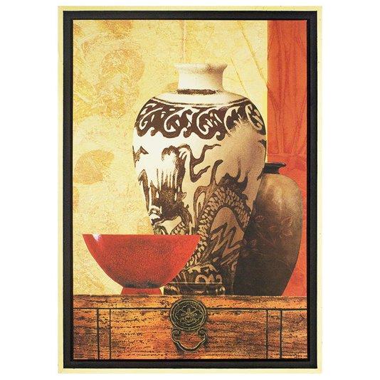 Quadro Decorativo Vasos Impressão Digital em Tela 65x95cm