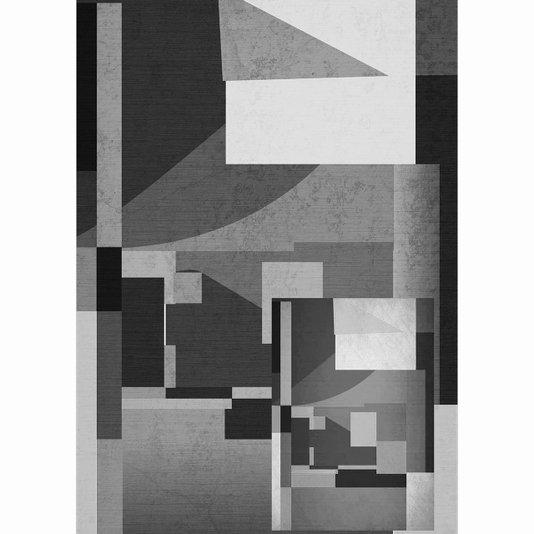 Quadro em Canvas Tela Decorativa Abstrata em Preto e Branco Arte Moderna 50x70cm
