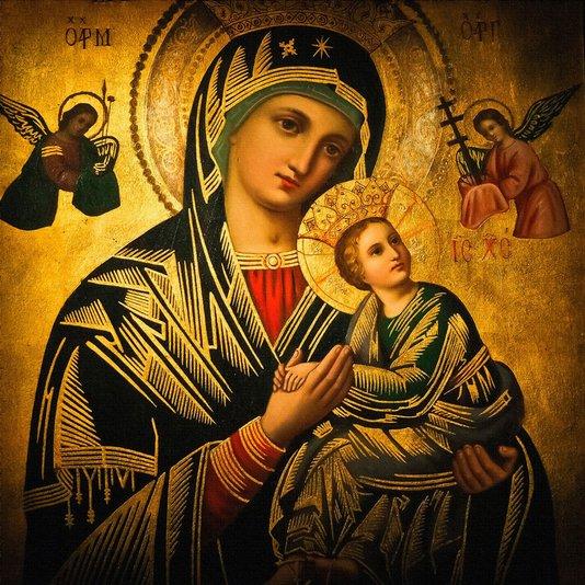 Quadro em Canvas Tela Decorativa Maria Mãe de Jesus 60x60cm
