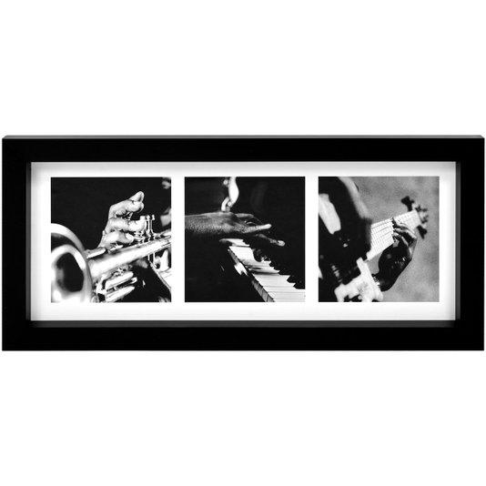 Quadro em Preto e Branco Instrumentos Musicais Combo 55x25cm