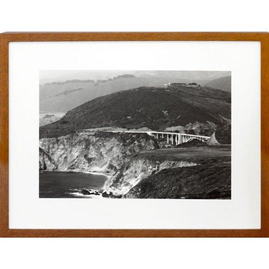 Quadro em Preto e Branco Paisagem Ponte Bixby Creek 40x30 cm