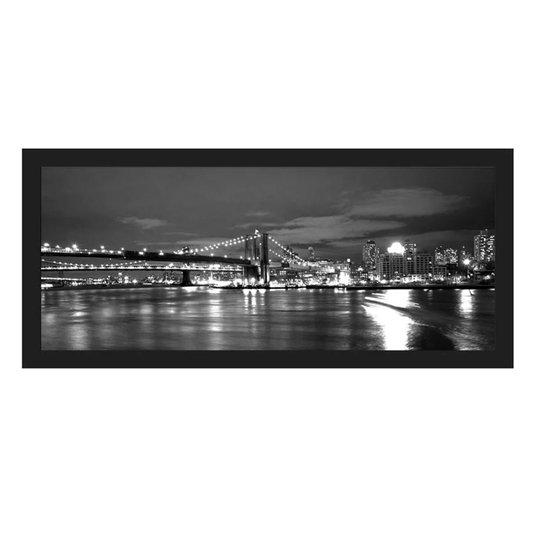 Quadro em Preto e Branco Ponte do Brooklyn Nova York 170x80cm
