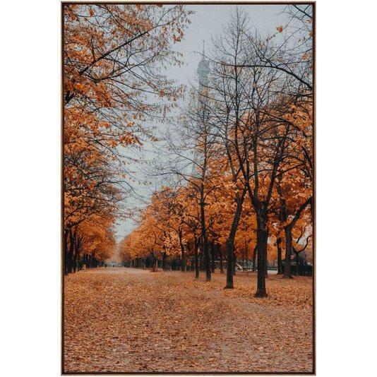 Quadro em Tela Canvas Natureza Rua Ladeada de Árvores 100x150cm