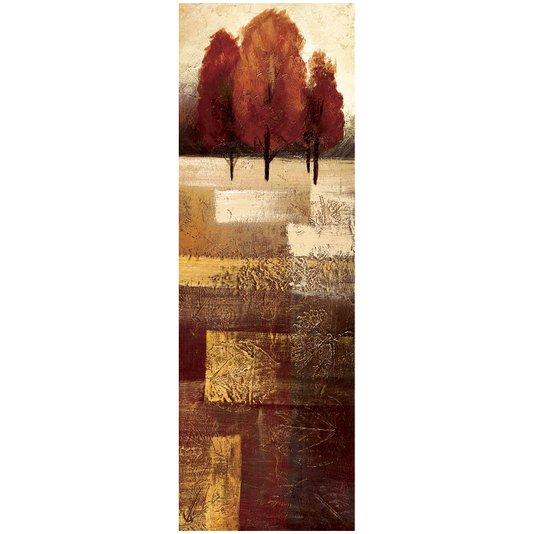 Quadro em Tela para Decoração Paisagem Árvores 30x90cm