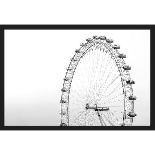 Quadro Escandinavo com Moldura Preta London Eye 90x60cm