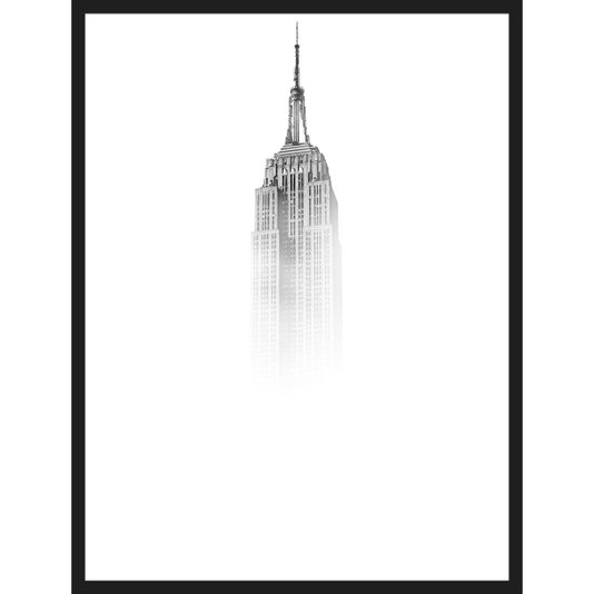Quadro Escandinavo Edifício Empire State Nova York 60x80cm