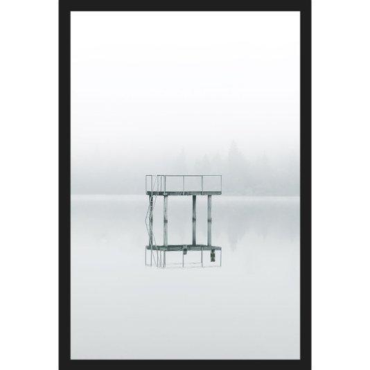 Quadro Escandinavo Lago e Nevoeiro Hoßkirch, Alemanha 60x90cm