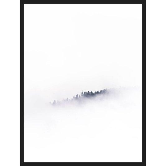 Quadro Escandinavo Nevoeiro em Montanha Zell am See - Áustria 60x80cm