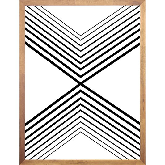 Quadro Geométrico Abstrato Minimalista Pirâmide Horizontal 60x80cm