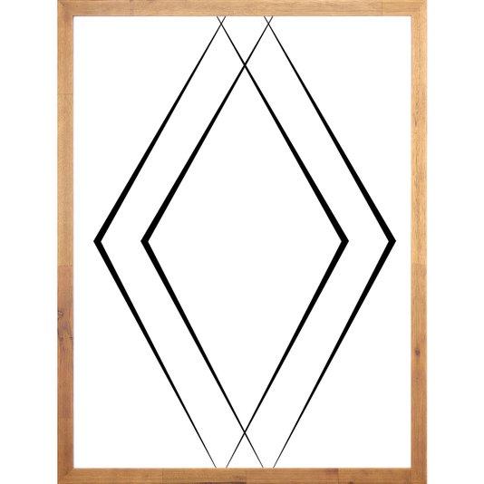 Quadro Geométrico Abstrato Triângulos Minimalista 60x80cm