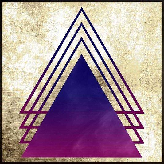 Quadro Geométrico Arte Moderna Triângulos 70x70 cm