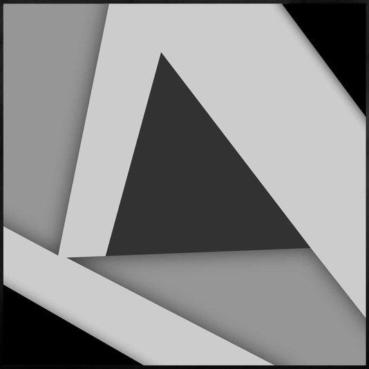 Quadro Geométrico em Preto e Branco Arte Moderna 70x70 cm