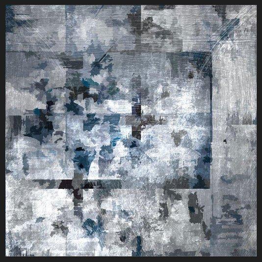 Quadro Grande Abstrato para Sala Moderno Texture Art 100x100cm