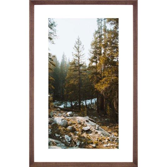 Quadro Grande com Moldura Chanfrada Paisagem Floresta 75x125 cm