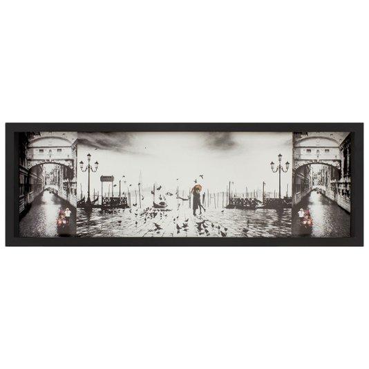 Quadro Imagem Sobreposta Ponte dos Suspiros O Beijo em Veneza 90x30cm