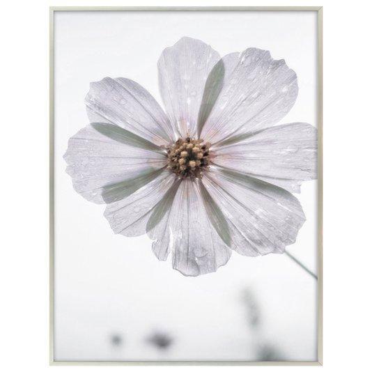 Quadro Impressão em Vidro Floral Delicado 60x80 cm