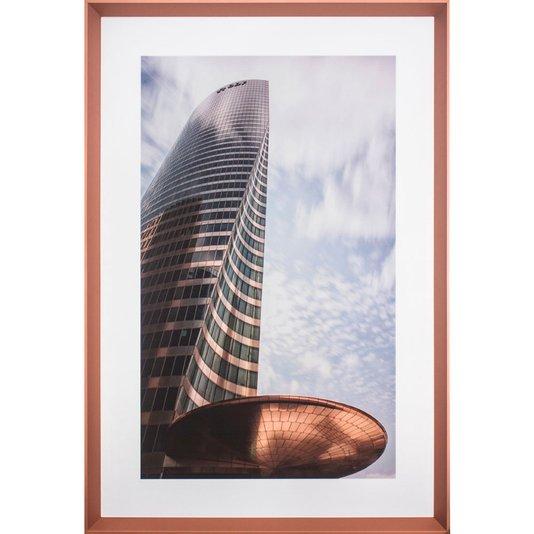 Quadro Moderno com Moldura Chanfrada Torre do FED em Paris 85x125 cm