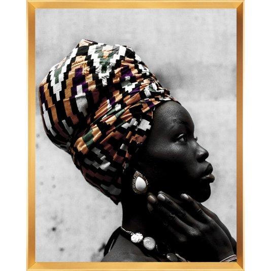 Quadro Mulher Africana Série Deusa do Ébano 80x100cm