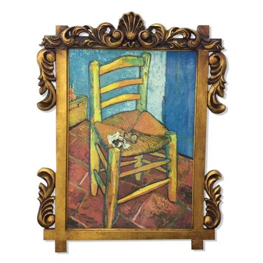 Quadro Obra de Arte A Cadeira e o Cachimbo Van Gogh 70x90cm
