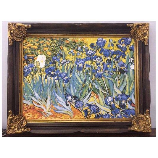 Quadro Obra de Arte Vincent Van Gogh Lírios 90x70cm