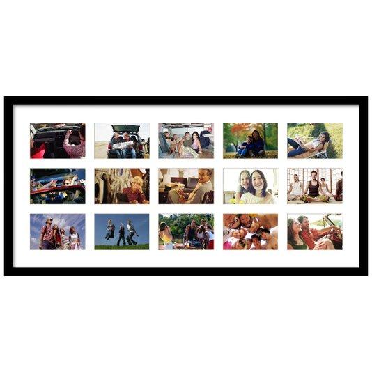 Quadro Painel de Fotos Capacidade para 15 Fotos 90x40cm
