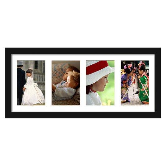 Quadro Painel de Fotos com Capacidade para 4 Fotos 50x20cm