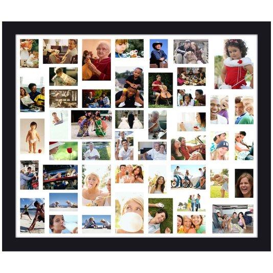 Quadro Painel de Fotos com Capacidade para 47 Fotos 130x110cm