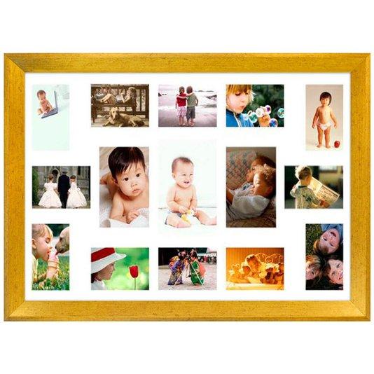 Quadro Painel de Fotos Decorativo com Capacidade para 15 Fotos 80x50cm