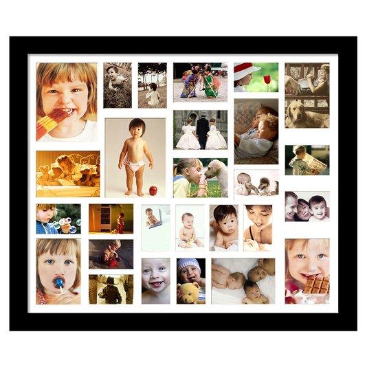 Quadro Painel de Fotos Decorativo para 27 Fotos 110x90cm