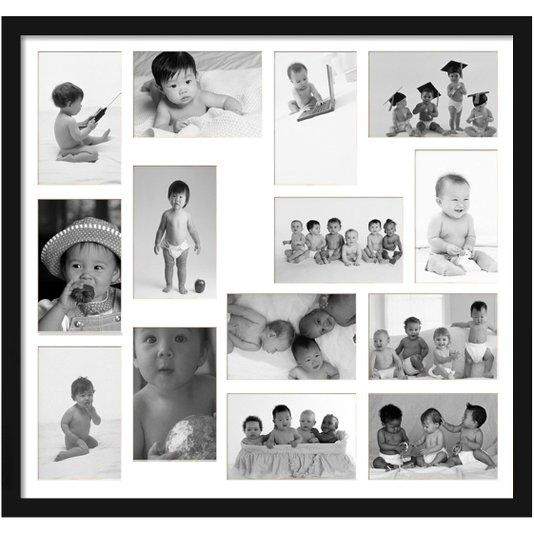 Quadro Painel de Fotos para 14 Fotos 60x50cm
