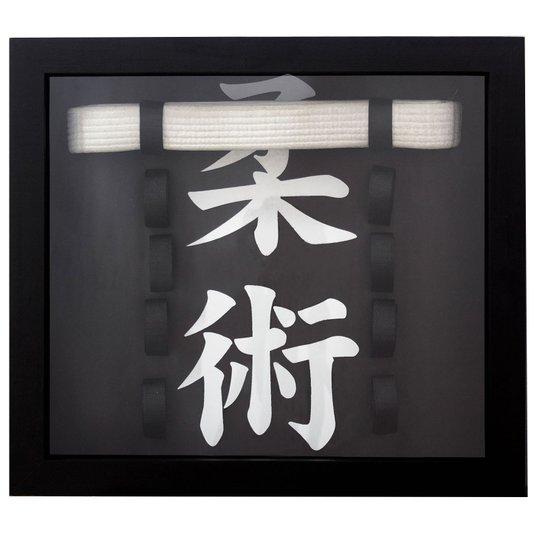Quadro Porta Faixas Jiu-Jitsu Personalizado 45x40cm