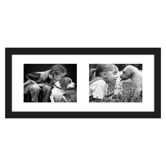 Quadro Porta Retrato Painel de Fotos para 2 Fotos 40x20cm