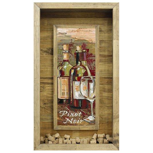 Quadro Porta Rolhas Vinhos Pinot Noir 40x70cm