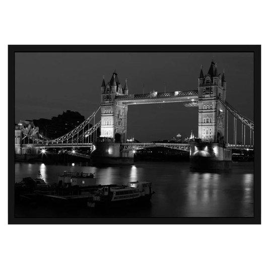 Quadro Imagem com Moldura e Vidro Londres London Bridge 90x60cm