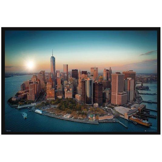 Quadro Poster com Moldura Paisagem New York Empire State 94x64cm