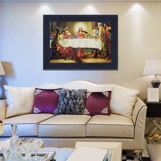 Quadro Religioso Decorativo Santa Ceia 110x80cm