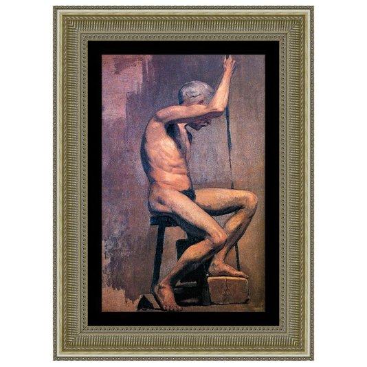 Quadro Reprodução de Obra de Arte em Papel Estudo Acadêmico Picasso 75x100cm