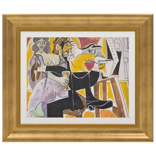 Quadro Reprodução de Obra de Arte em Papel Rembradt e Saskia de 1963 - 95x80cm