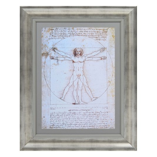Quadro Reprodução de Obra de Arte Shema Del Corpo Umano 80x100cm