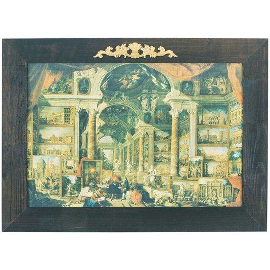 Quadro Reprodução Obra de Arte em Canvas Giovanni Paolo Pannini 120x90cm