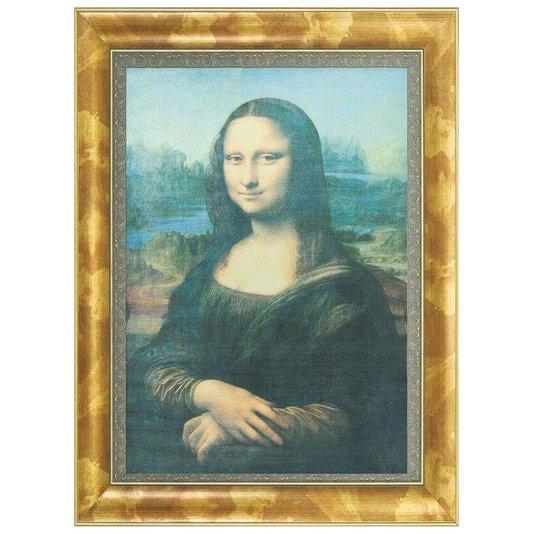 Quadro Reprodução Obra de Arte em Canvas Mona Lisa 65x85cm