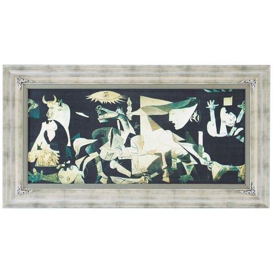 Quadro Reprodução Obra de Arte em Canvas Obra Guernica 120x70cm