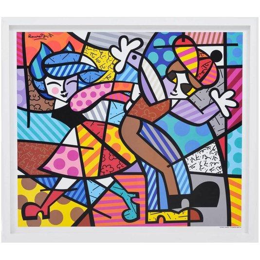 Quadro Romero Britto Decorativo Street Dance 80x70cm