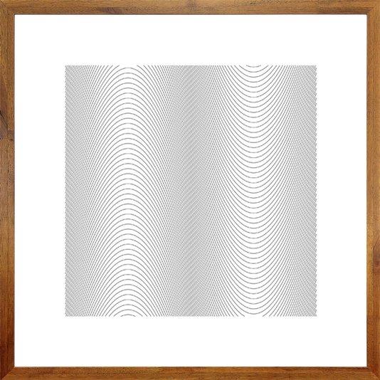 Quadro Rústico Arte Desenho a Lápis com Moldura Rústica 70x70 Cm